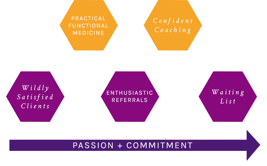 practical functional medicine plus confident coaching equals a successful practice